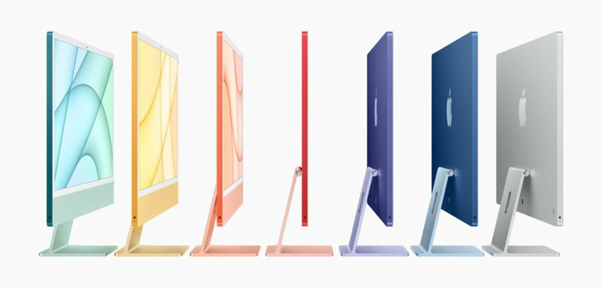 Apples iMac M1 in verschiedenen Farbvarianten