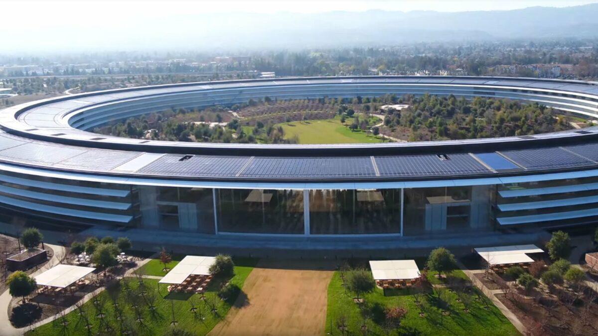Der Apple Park in einem neuen Drohnen-Video