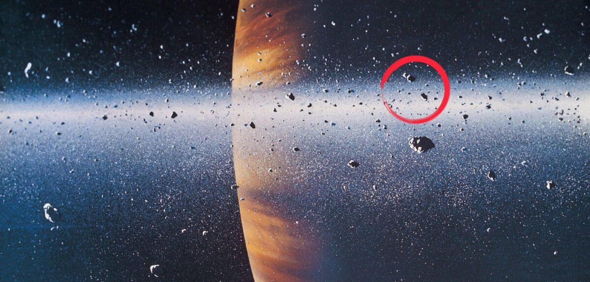 Asteroiden vor Planet