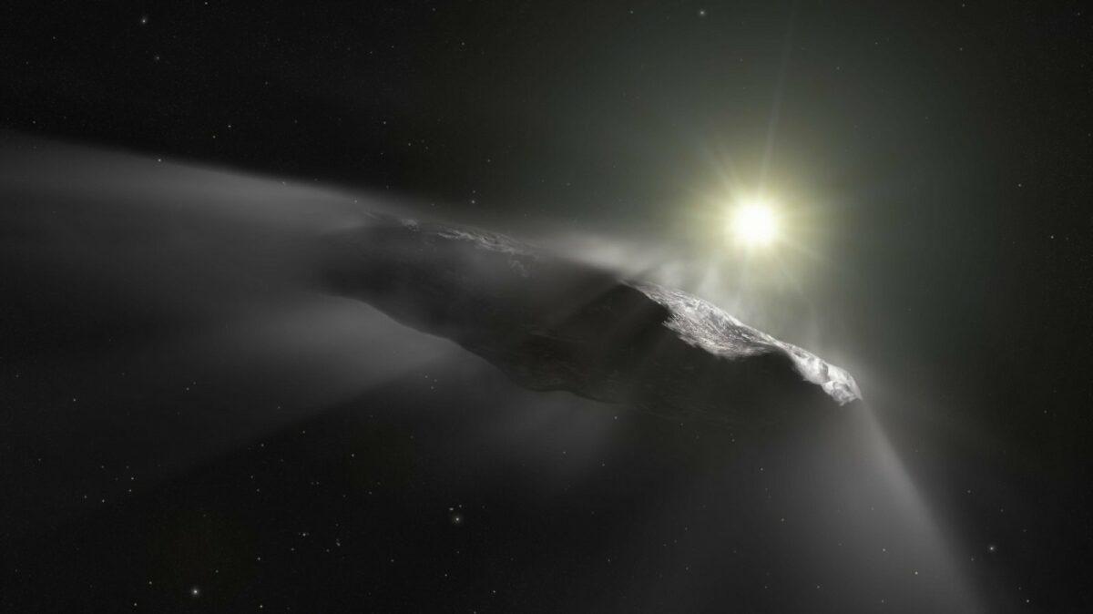 Illustration von Oumuamua.