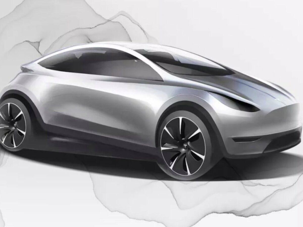 Skizze Tesla-Auto