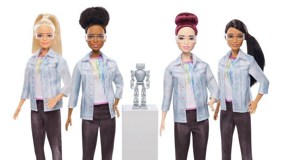 Barbie konstruiert jetzt Roboter.