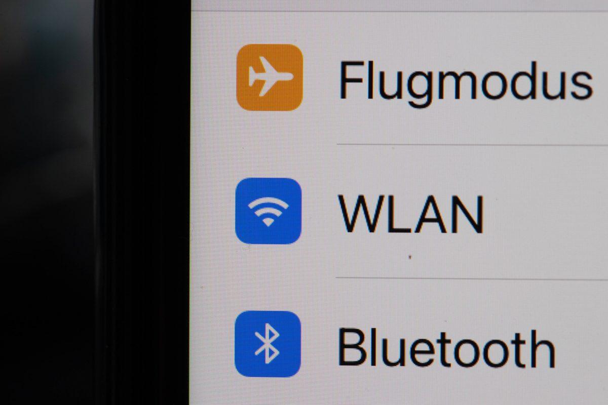 Einstellungen für Flugmodus, WLAN und Bluetooth