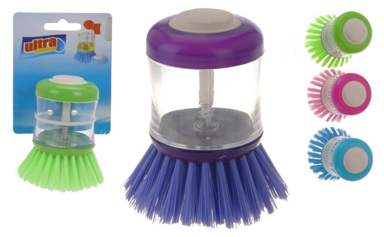 Mit der 2-in-1 Spülbürste wird der Abwasch zum Kinderspiel.