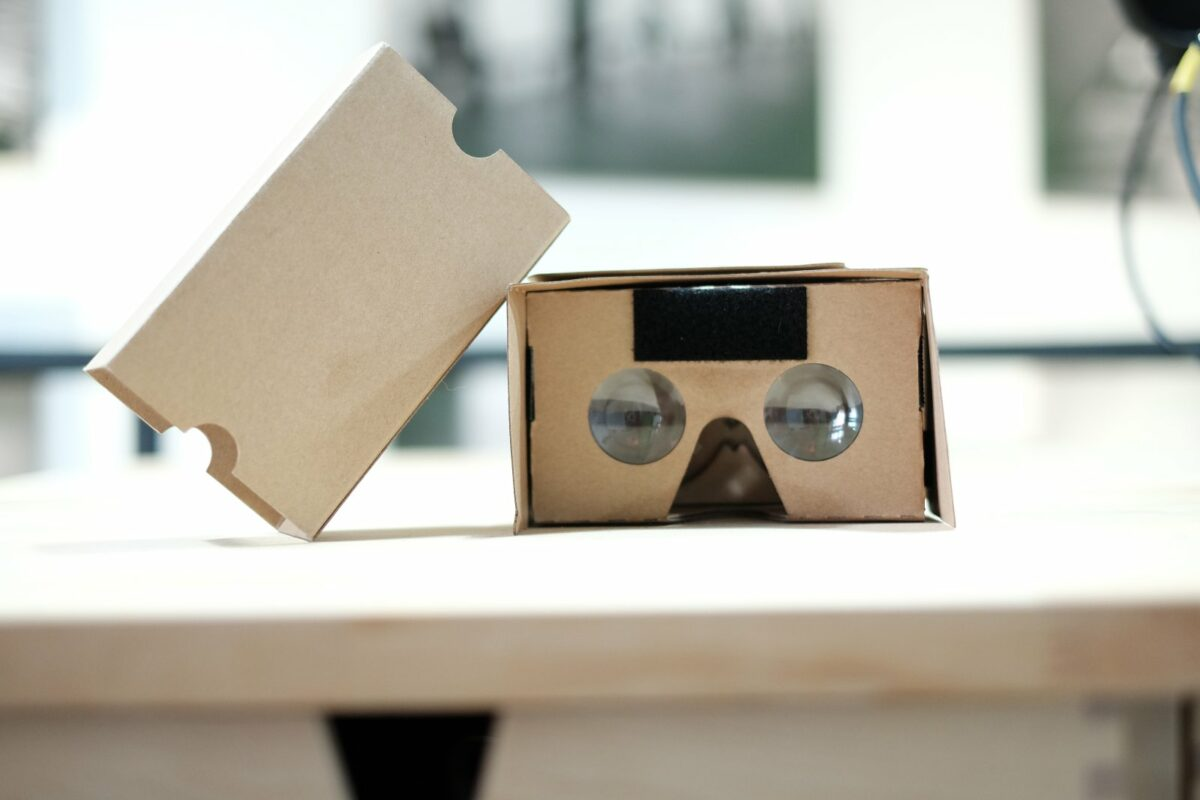 Google Cardboard VR Brille.