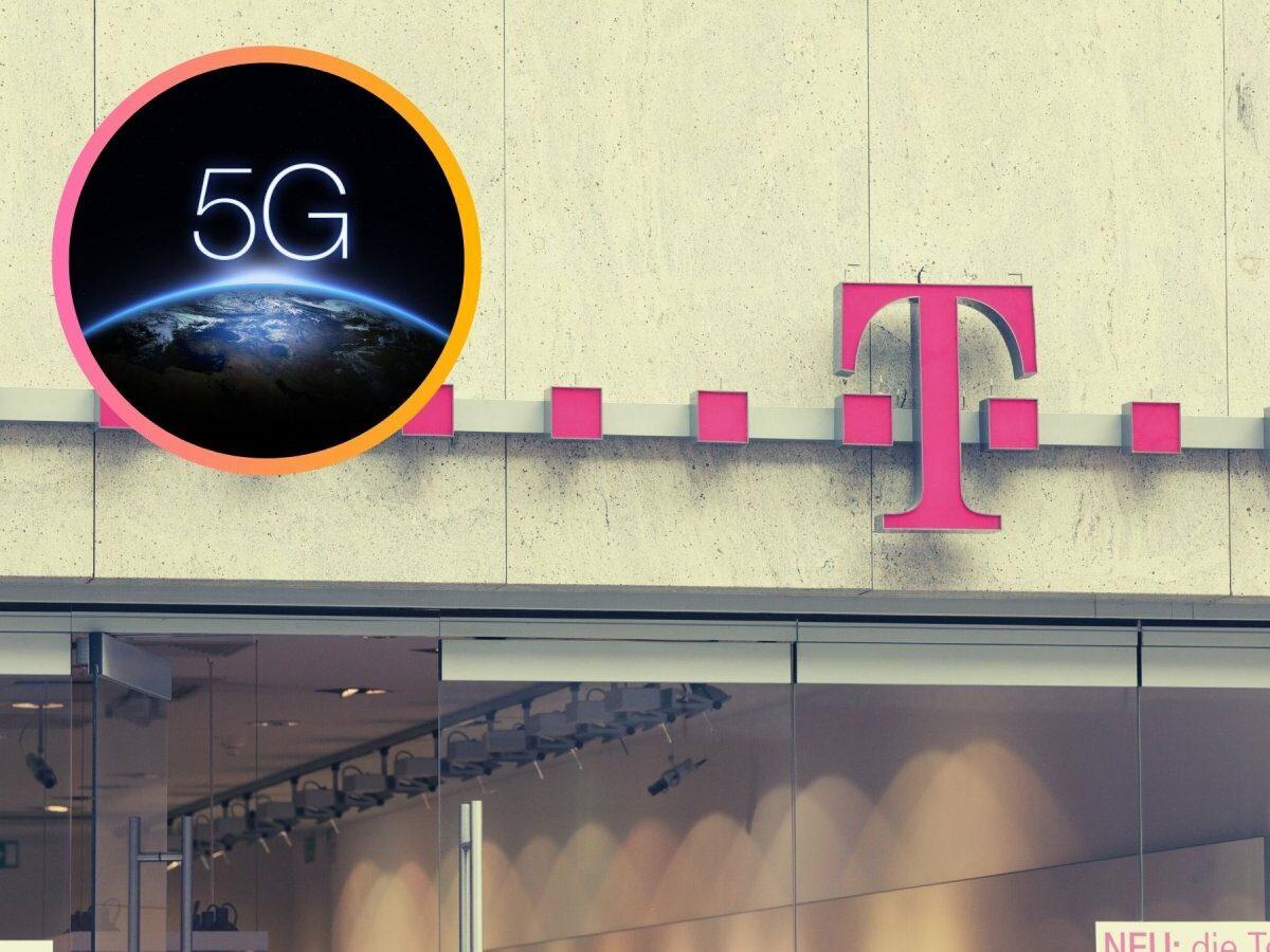Schriftzug der Deutschen Telekom auf einer Wand