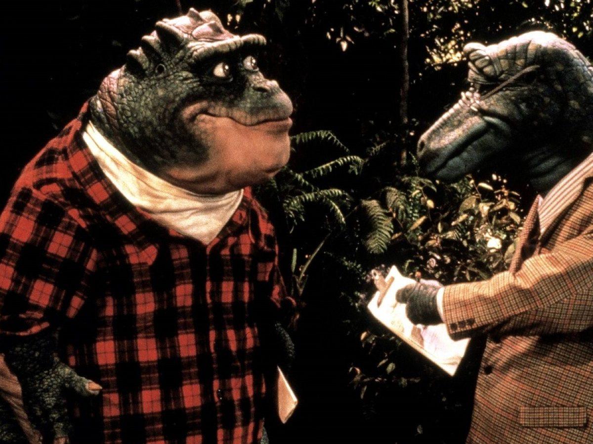 Szenenbild von Die Dinos mit Vater Sinclair.