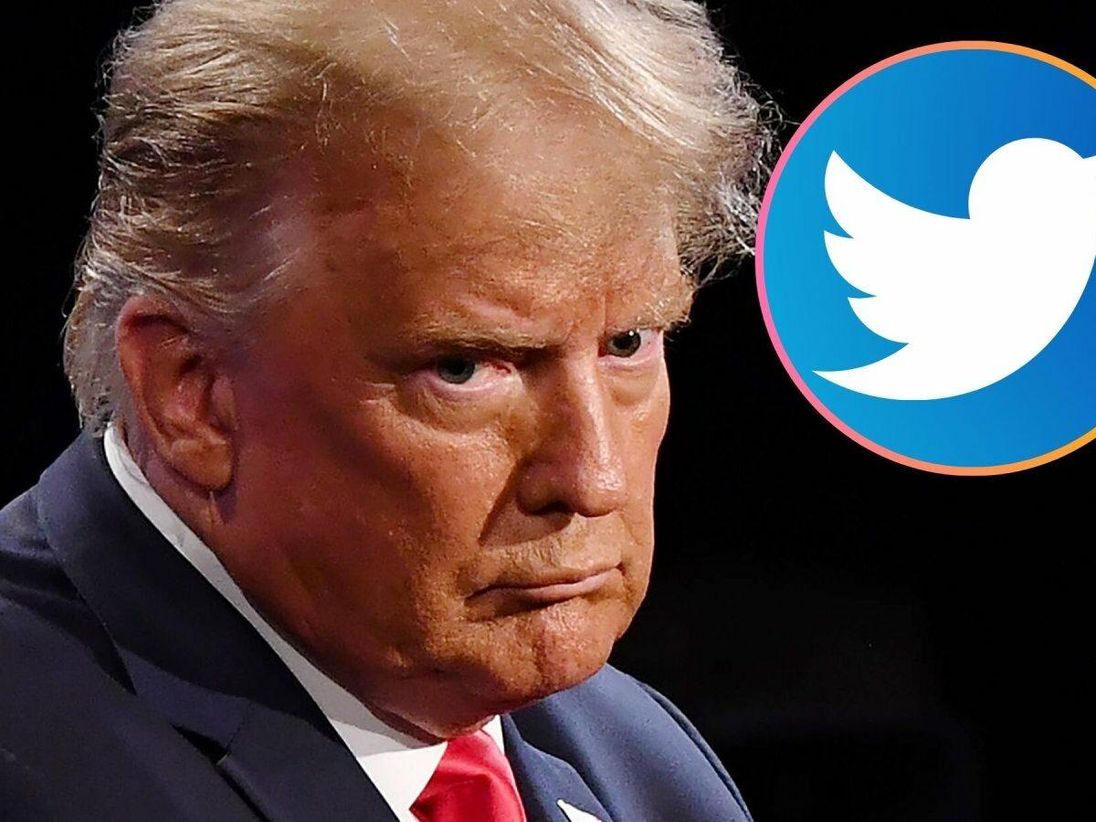 Donald Trump und das Twitter-Logo