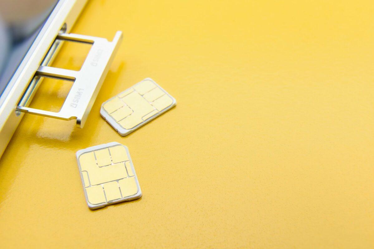 Zwei SIM-Karten.