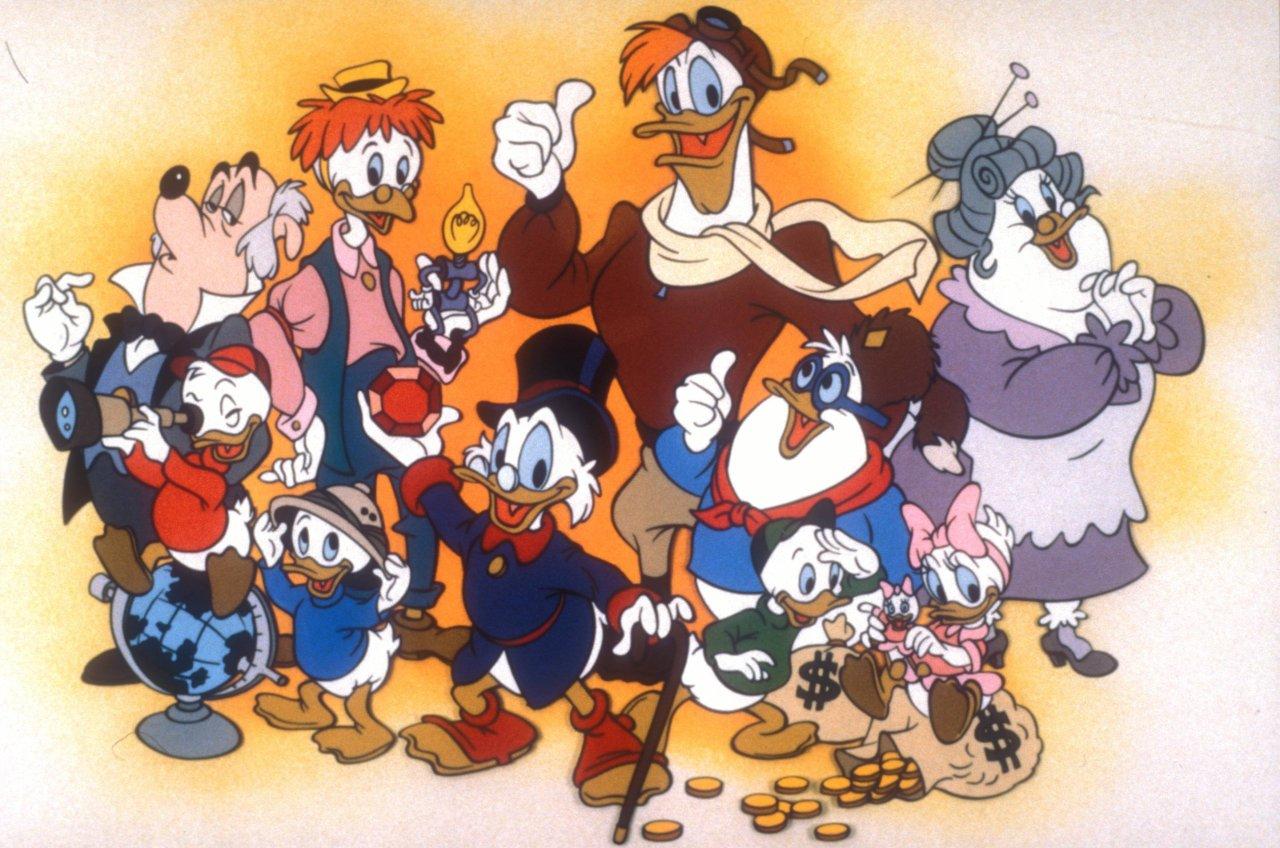 """Das Trio Tick, Trick und Track machen in """"Duck Tales"""" Entenhausen unsicher."""