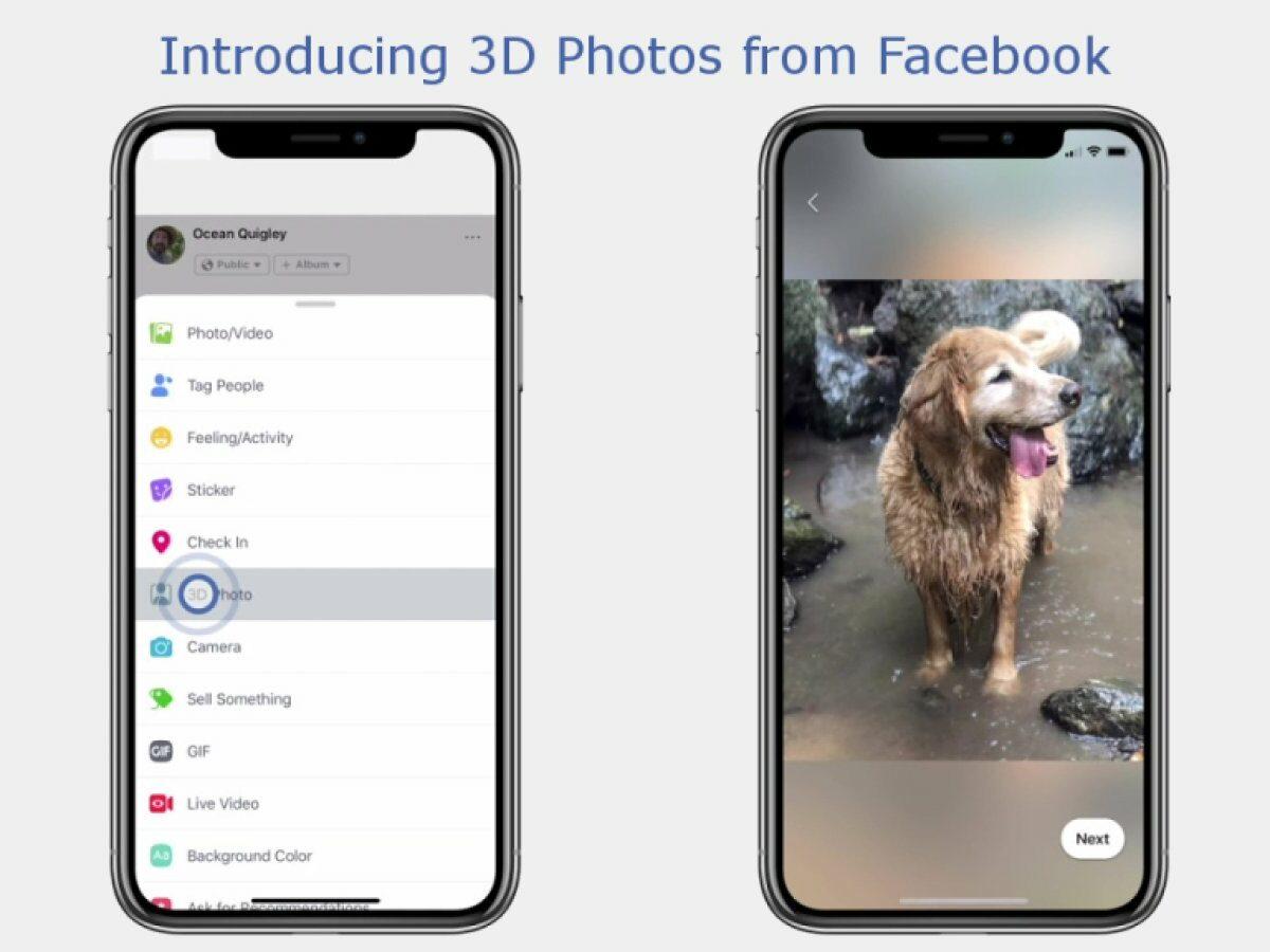 iPhone X auf dem die Facebook App zu sehen ist.