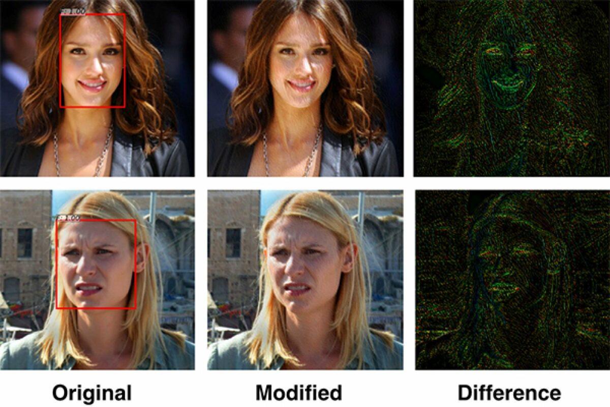 Zwei Beispiele von modifizierten Bildern.