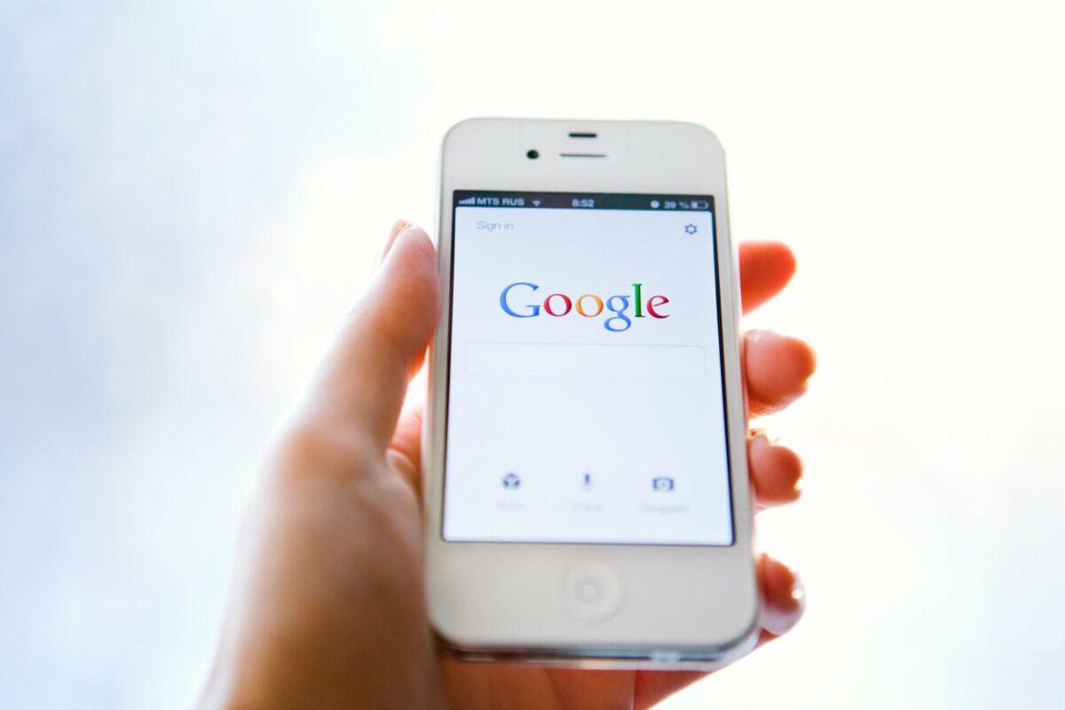 Google auf dem Handy