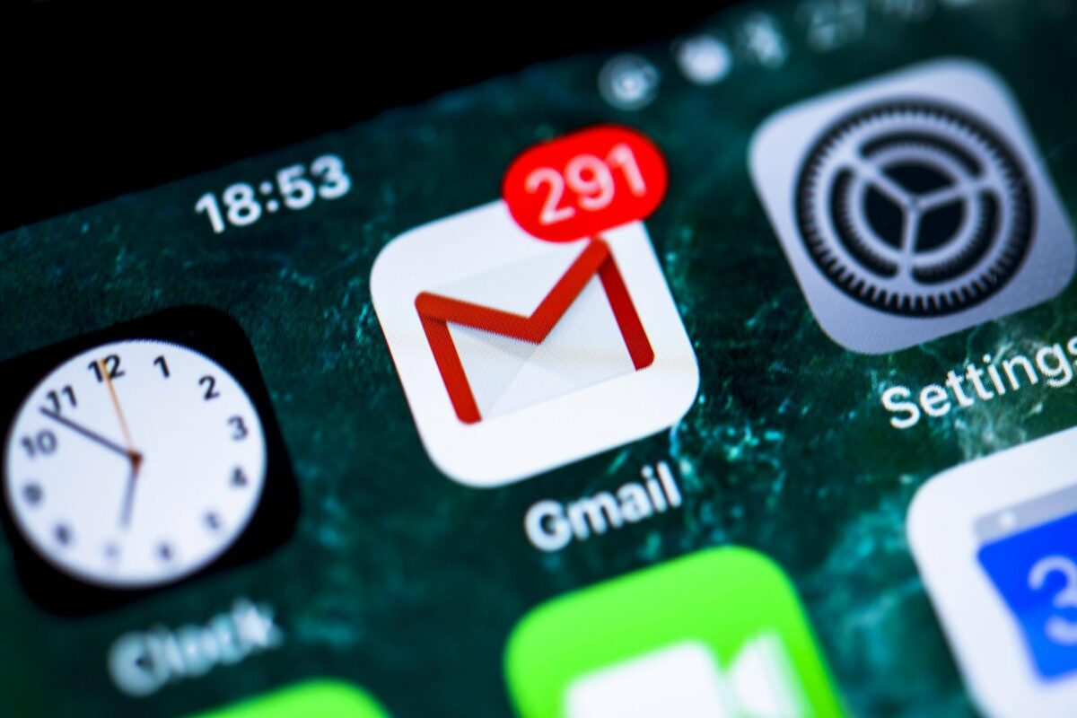 Google Gmail-Icon auf Smartphone