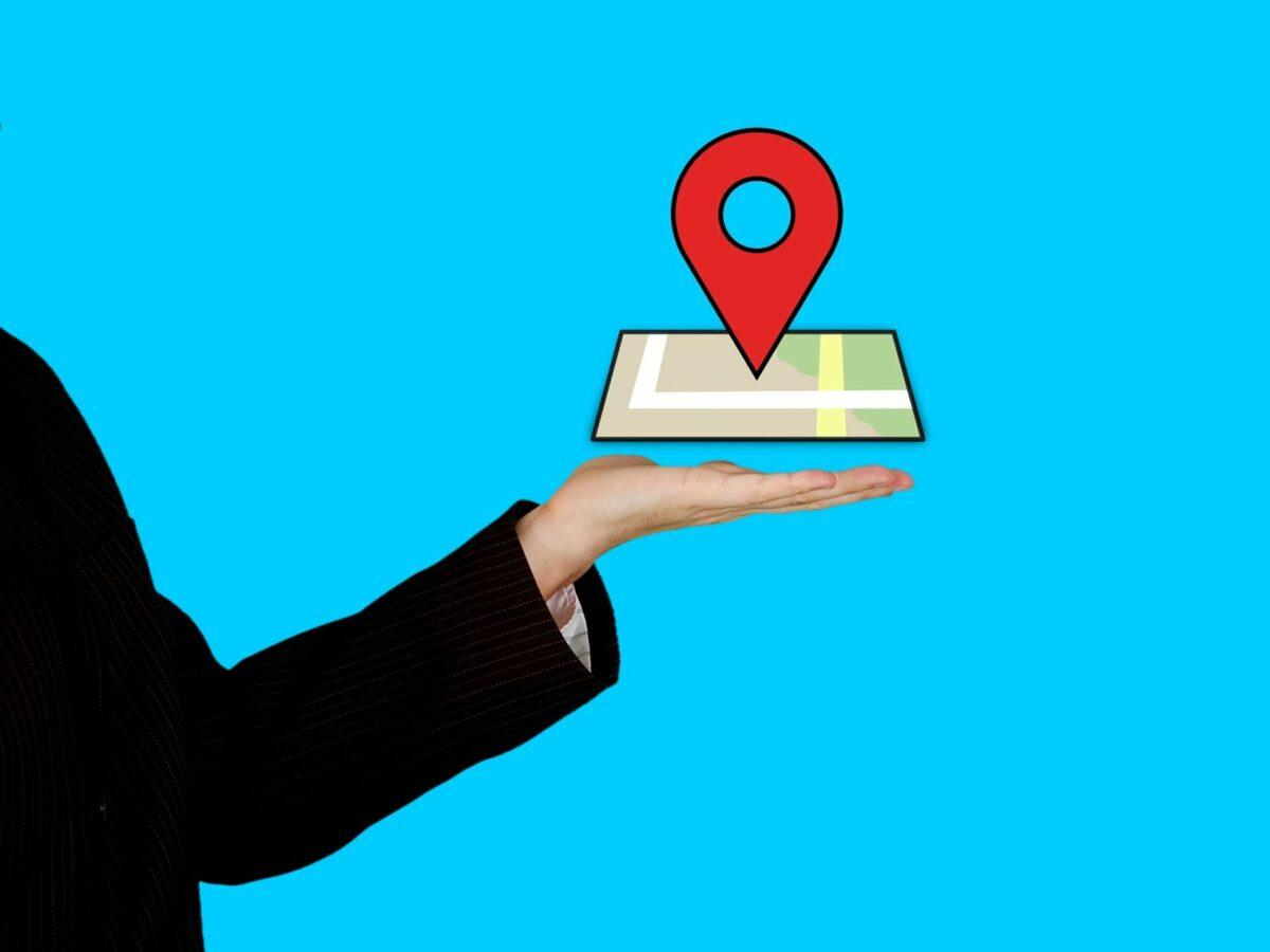 Das Google Maps Logo.