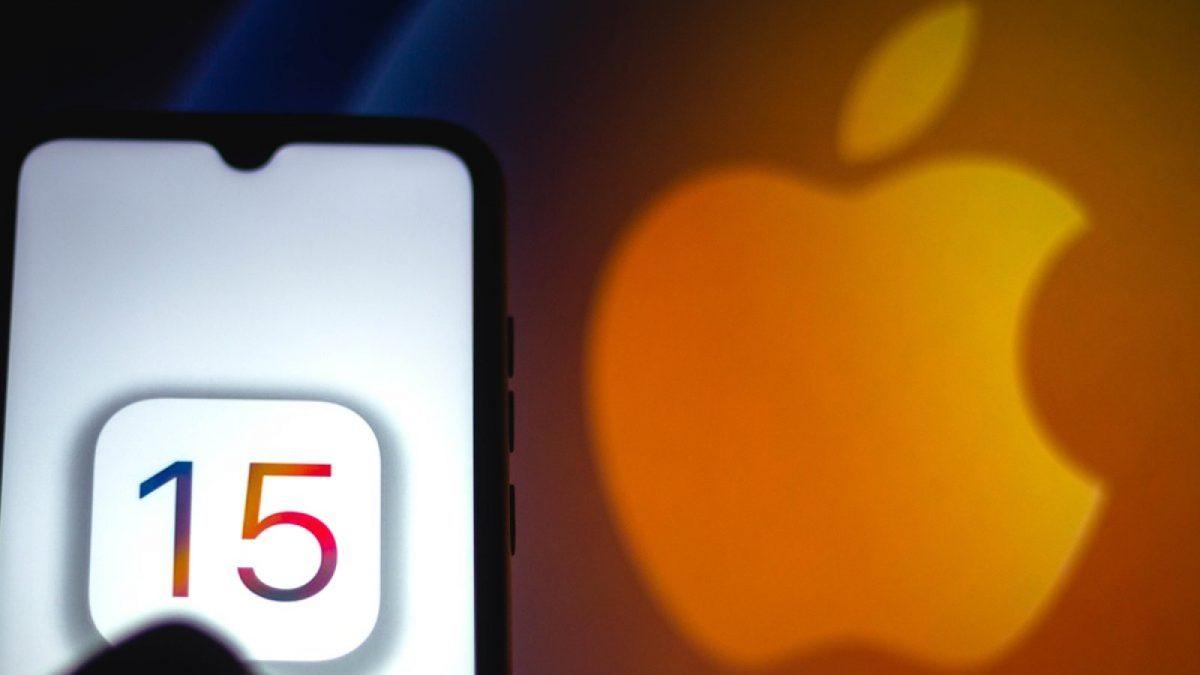 15 auf iPhone vor Apfel