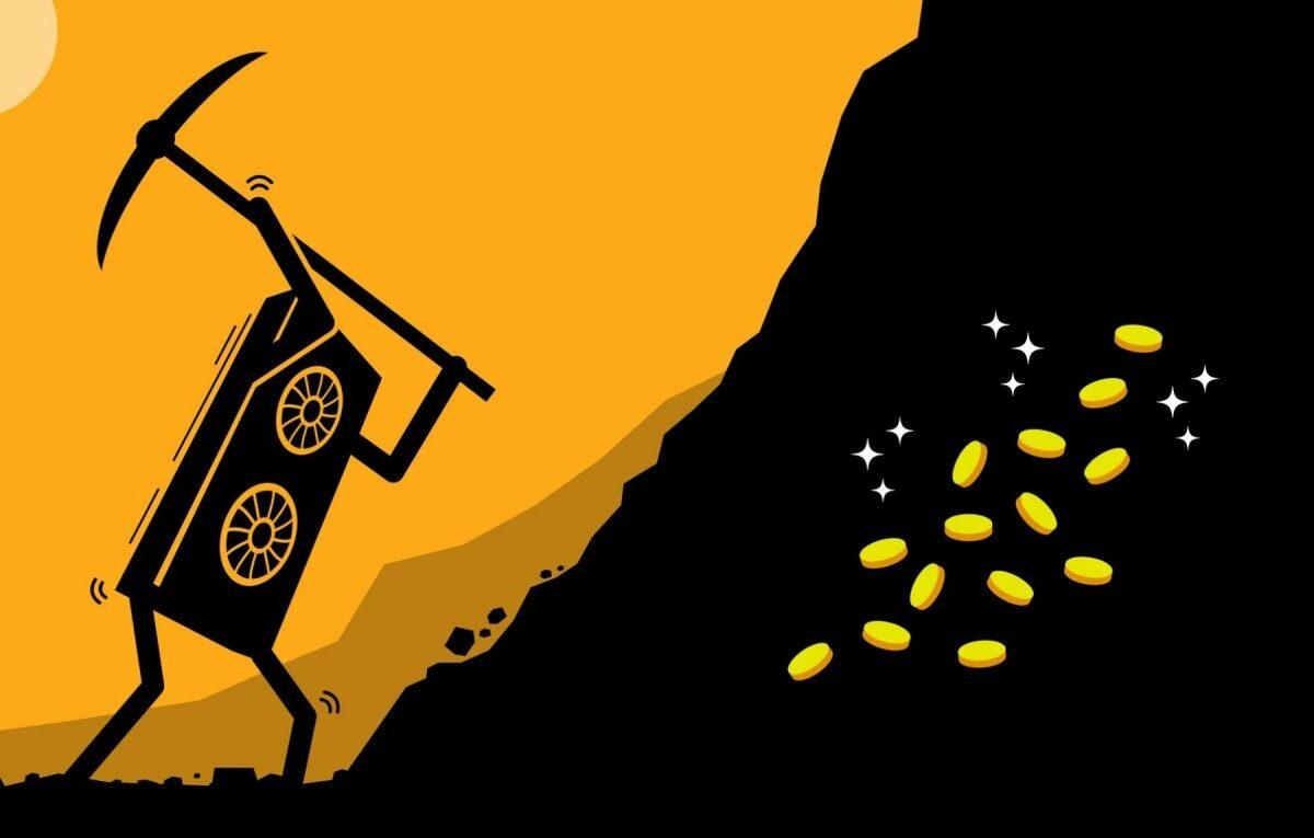 Eine Grafikkarte beim Mining (Illustration)