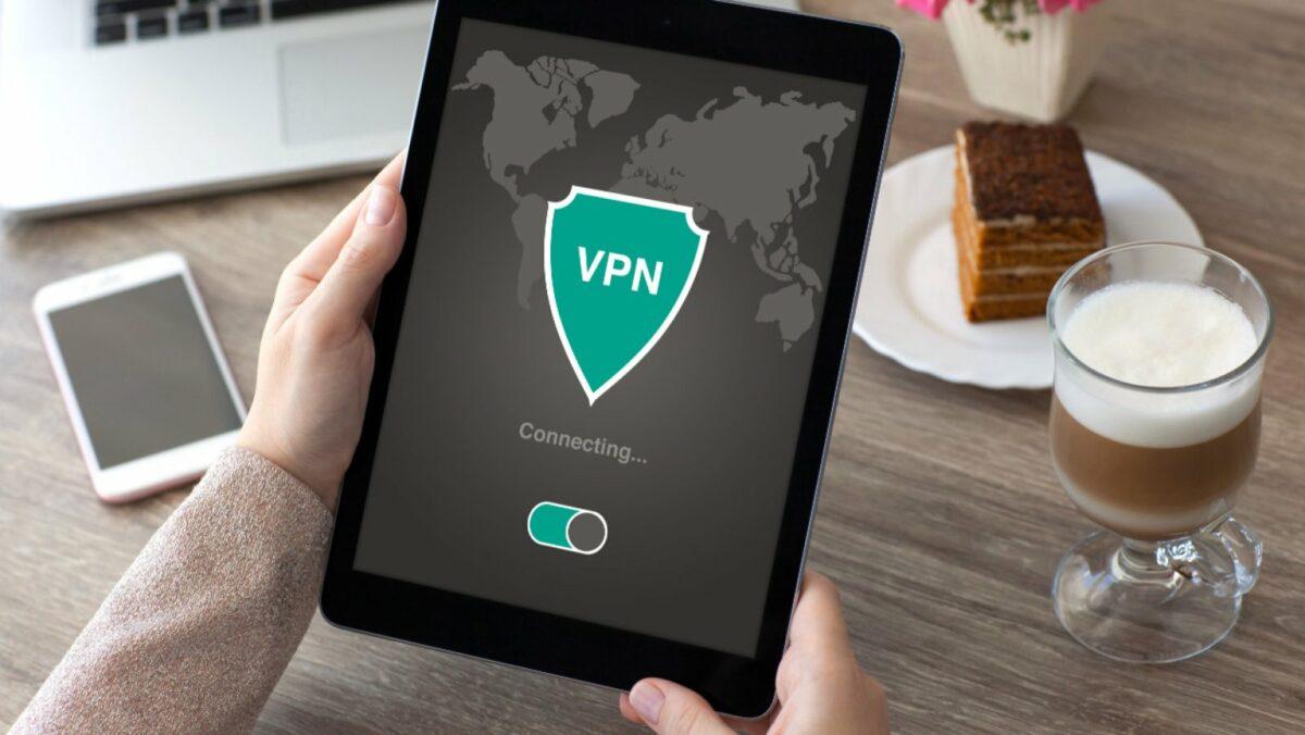Tablet verbindet sich mit VPN