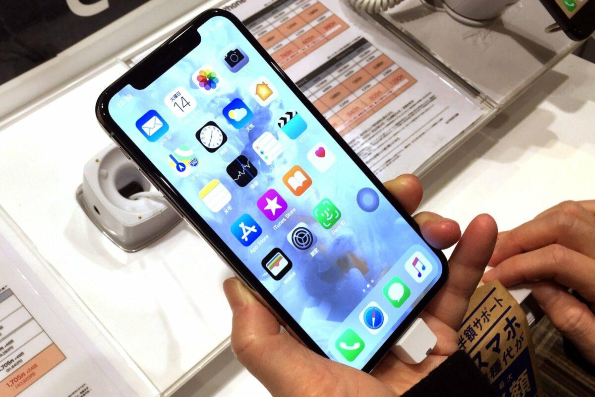 Ein iPhone X.