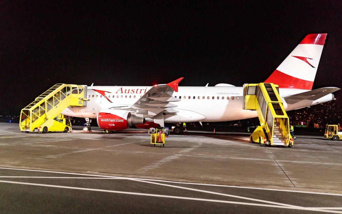 Flugzeug der Austrian Airlines