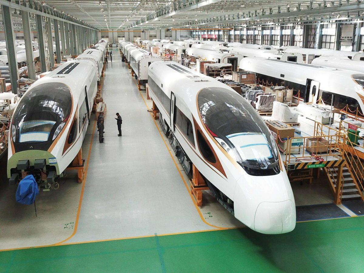 Chinesische Hochgeschwindigkeitszüge