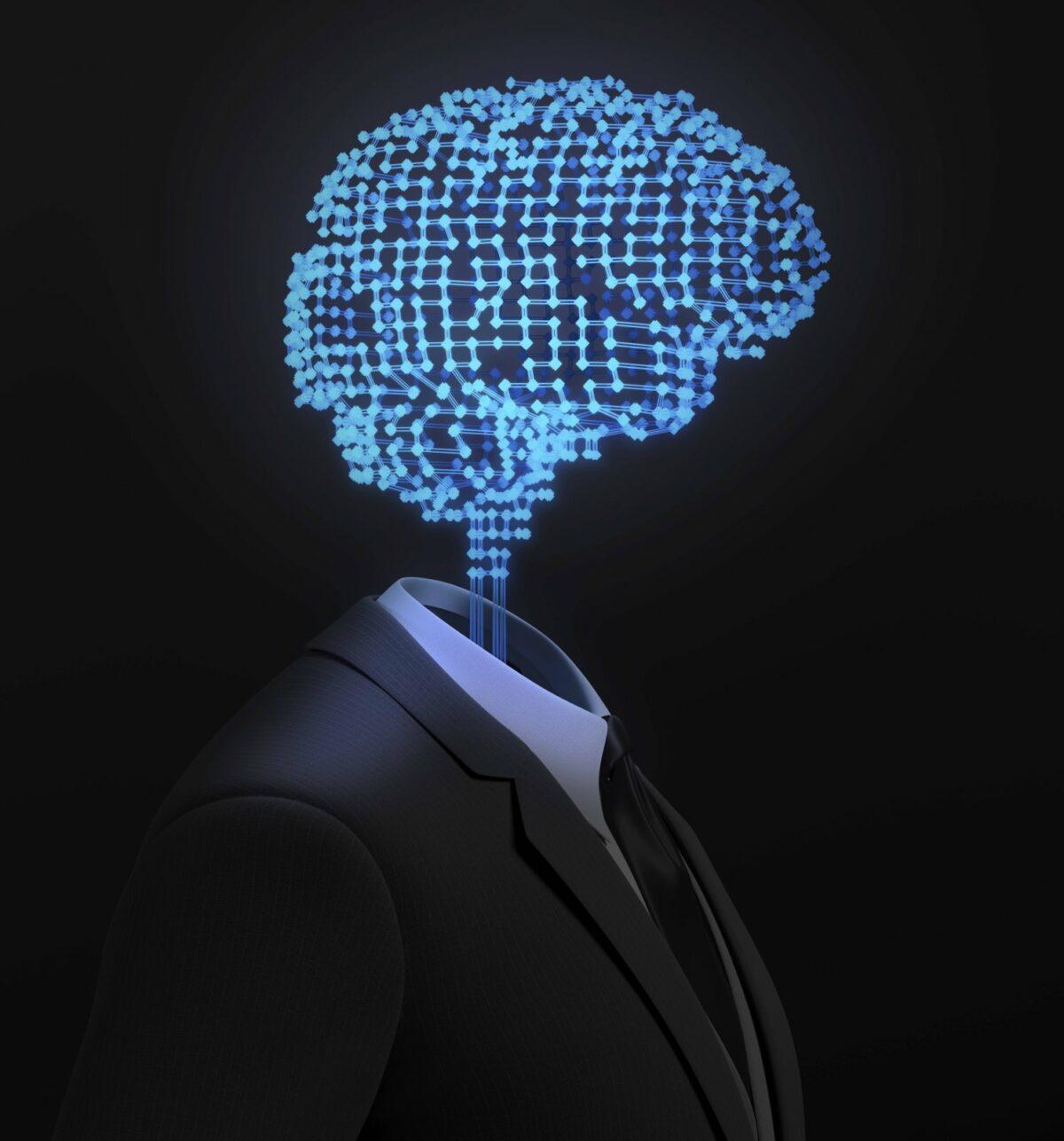 Eine Computeranimation des menschlichen Gehirns.