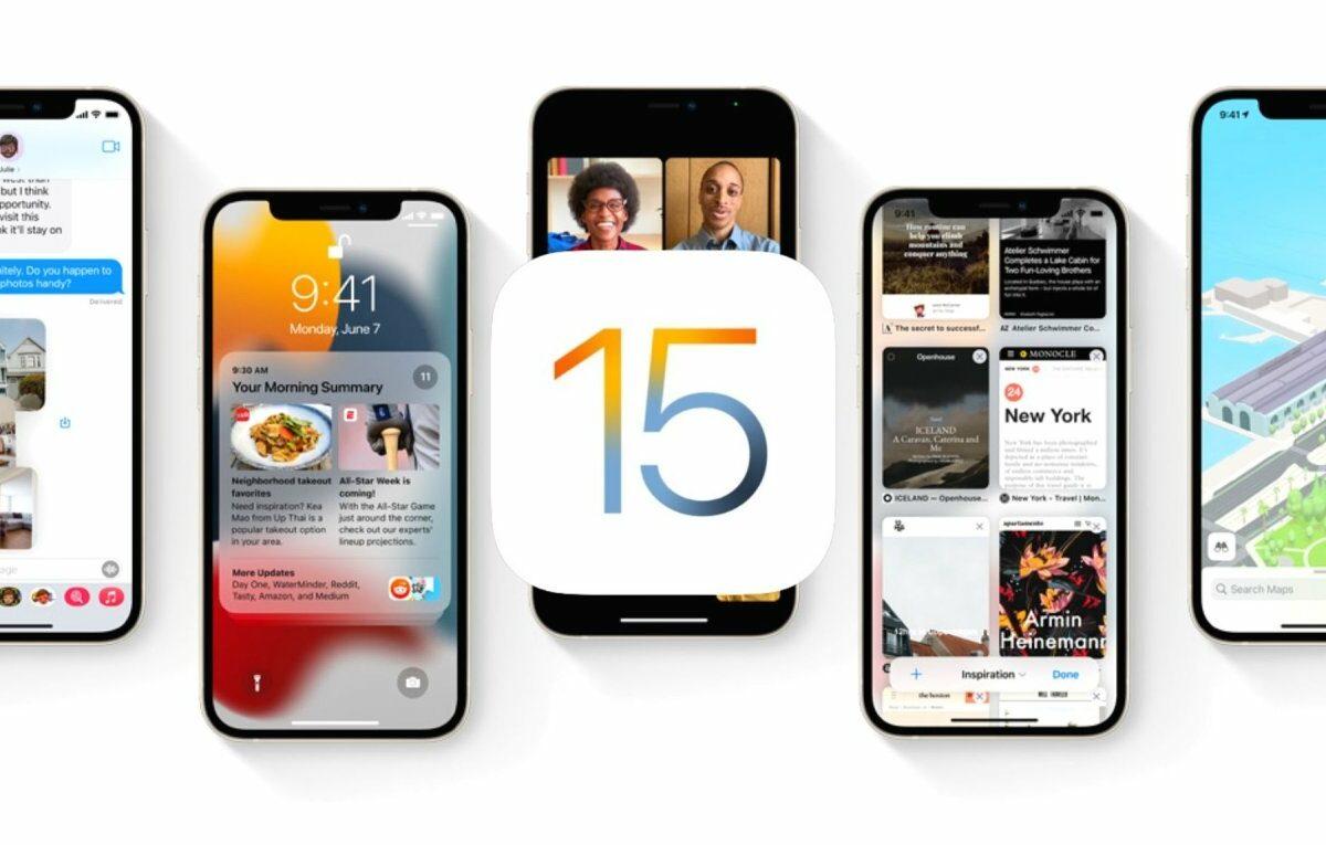 Verschiedene iPhones mit iOS 15