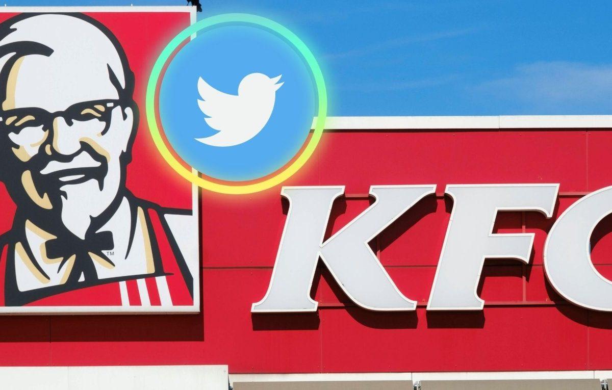 KFC-Logo und das Twitter-Logo.