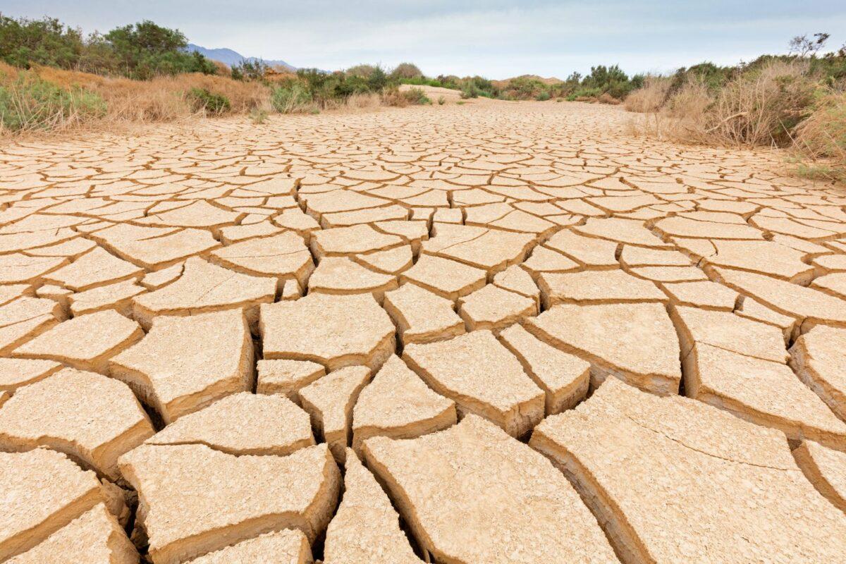 Ausgetrockneter Boden nach einer langen Dürreperiode