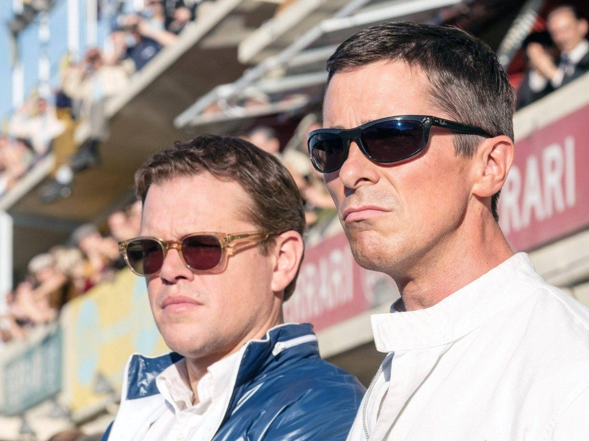 Matt Damon und Christian Bale in Le Mans 66.