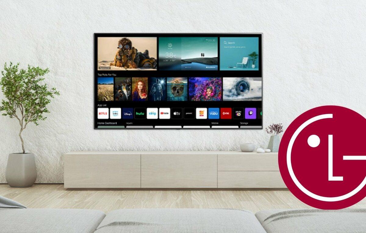 LG-Fernseher an der Wandaufhängung