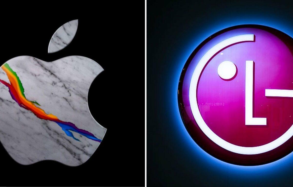 Apple- und LG-Logos nebeneinander
