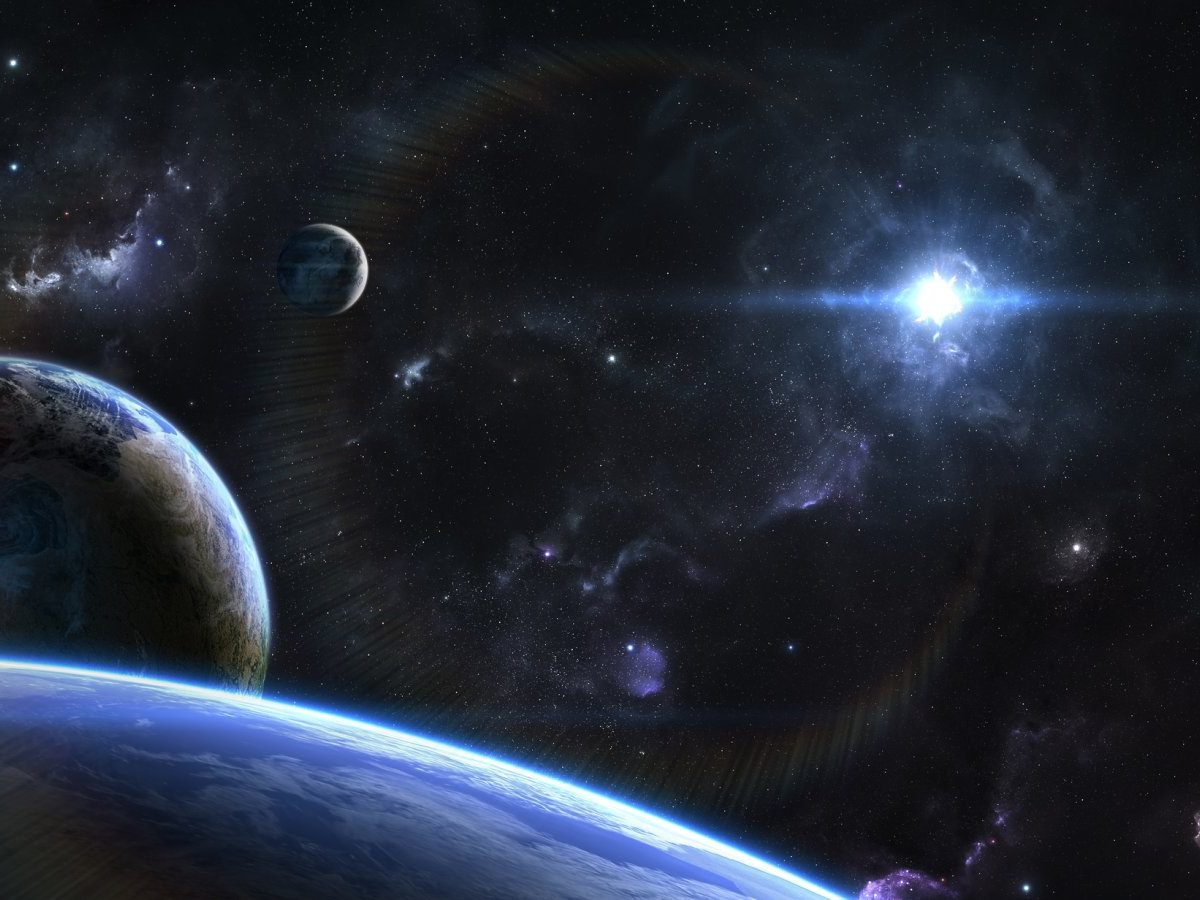 Planeten und Himmelskörper im All