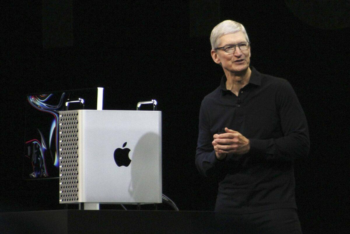 Tim Cook bei der Präsentation des neuen Mac Pro auf der diesjährigen WWDC