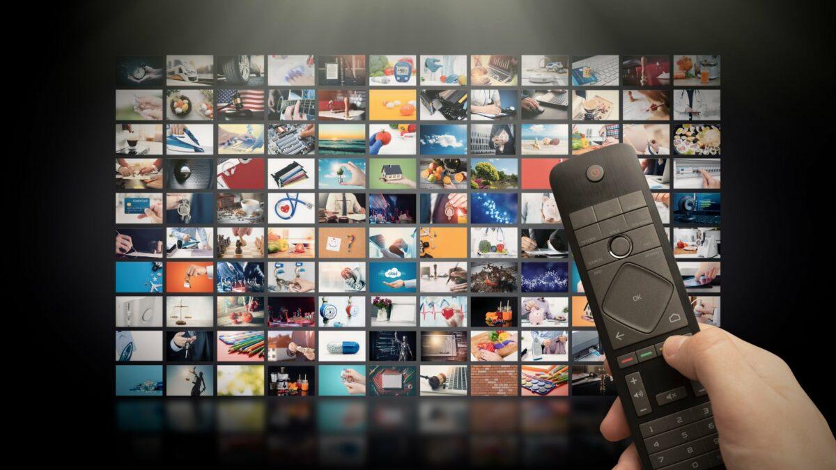 Streaming-Bildschirm mit vielen verschiedenen Angeboten. Ein Beispielbild.