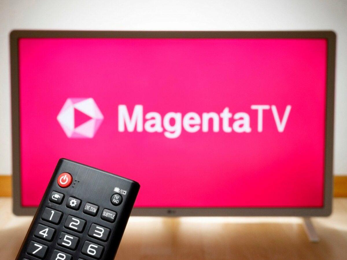 MagentaTV auf dem Fernseher.