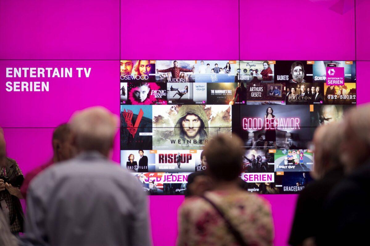 Entertain TV Serien von der Telekom.