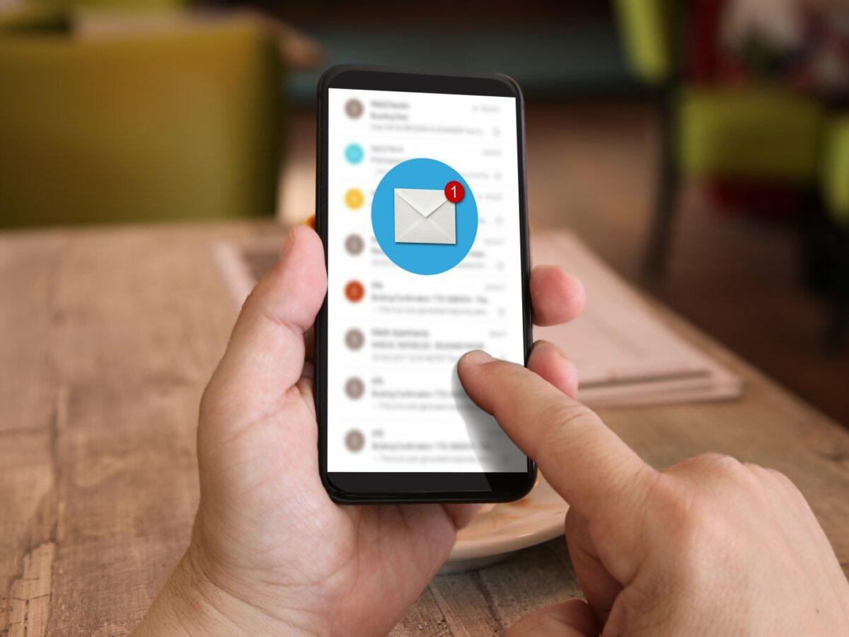 E-Mail-App auf dem Handy