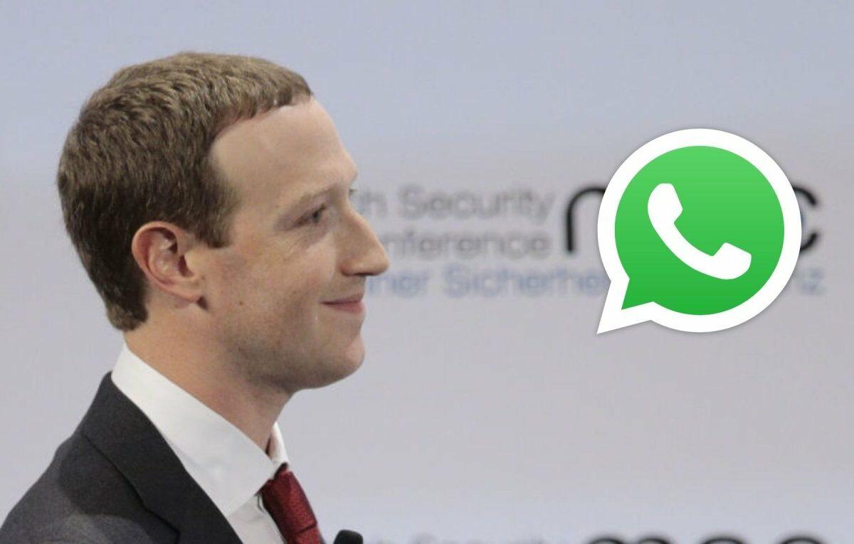Mark Zuckerberg und das WhatsApp-Logo