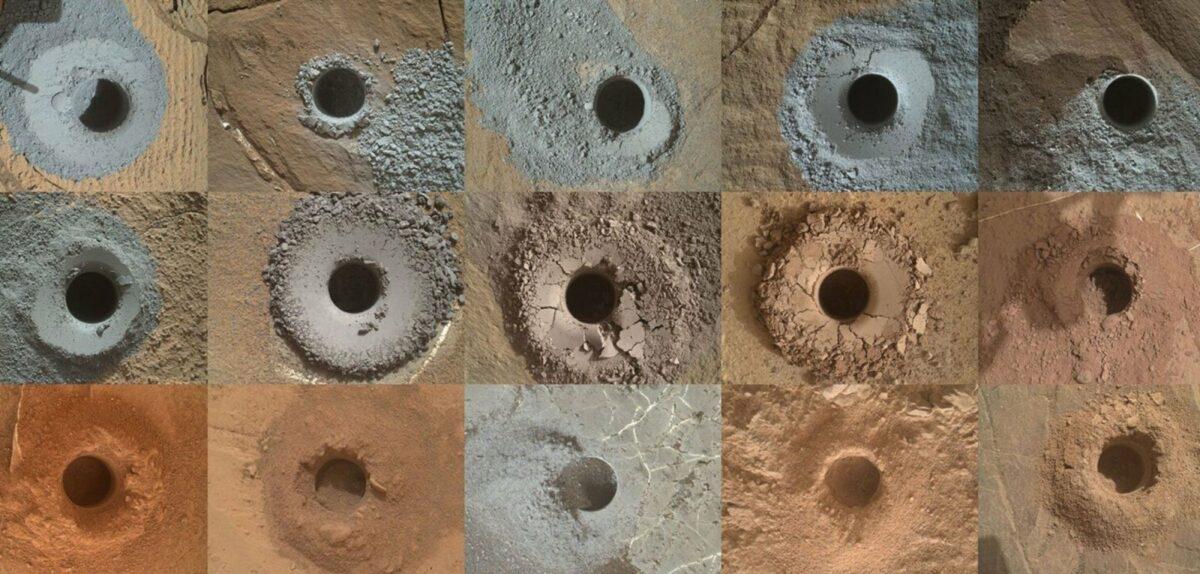 Löcher in der Mars-Oberfläche