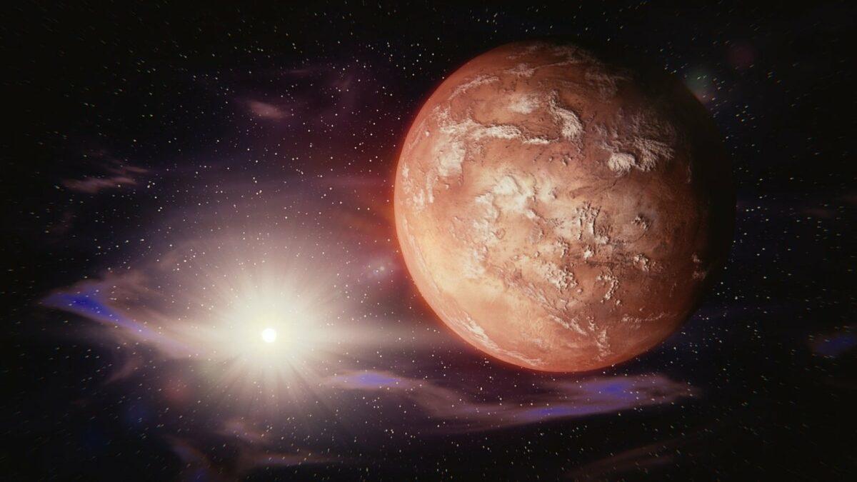 Mars und Sonne
