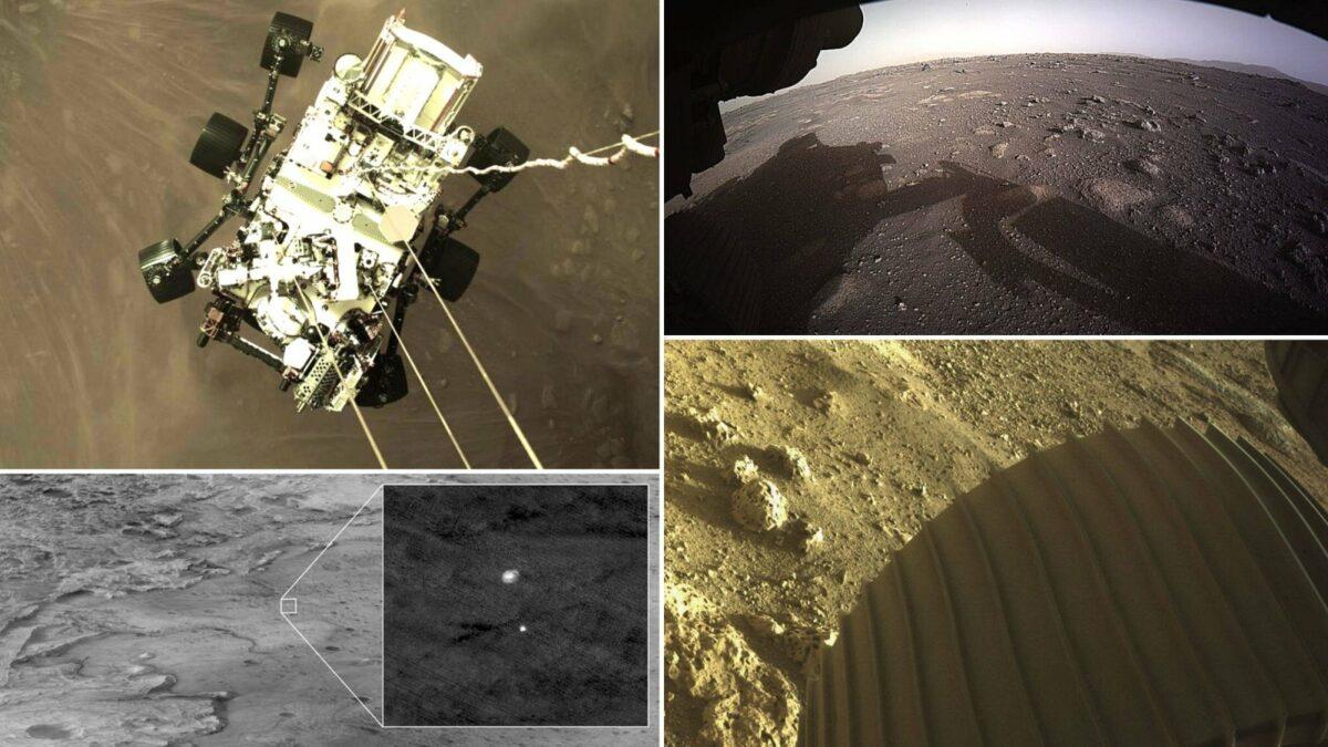 Marslandung eines Rovers Perseverance der NASA