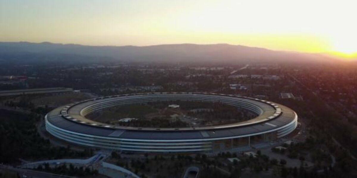 Einen Aufnahme des neuen Apple Campus.