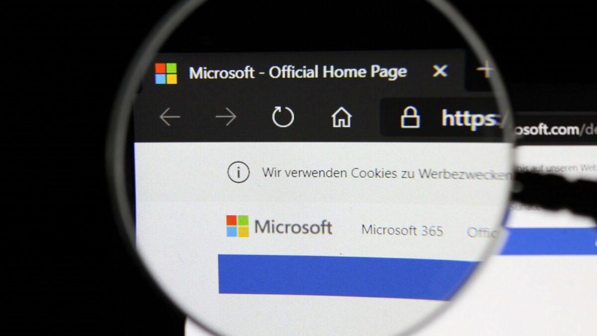 Die offizielle Microsoft-Webseite.