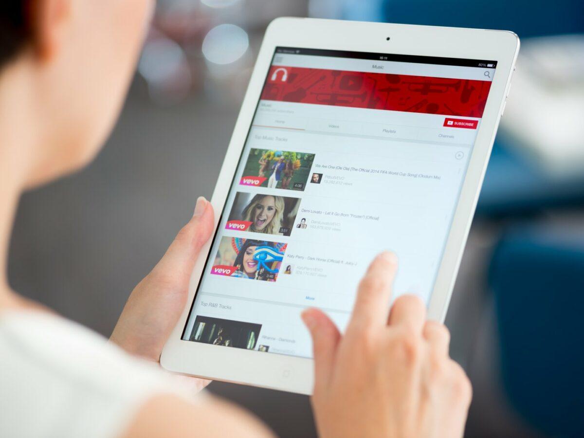 YouTube auf einem iPad
