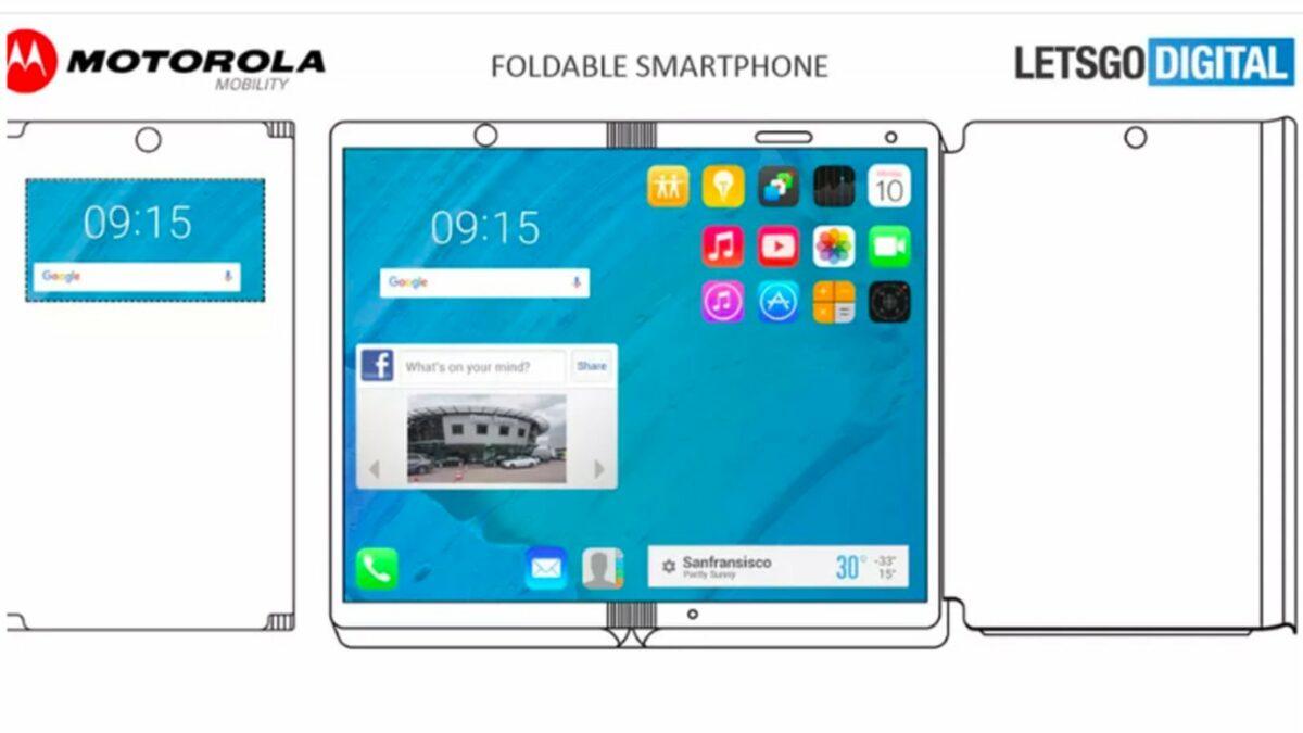Der Entwurf eines faltbaren Smartphones von Motorola.