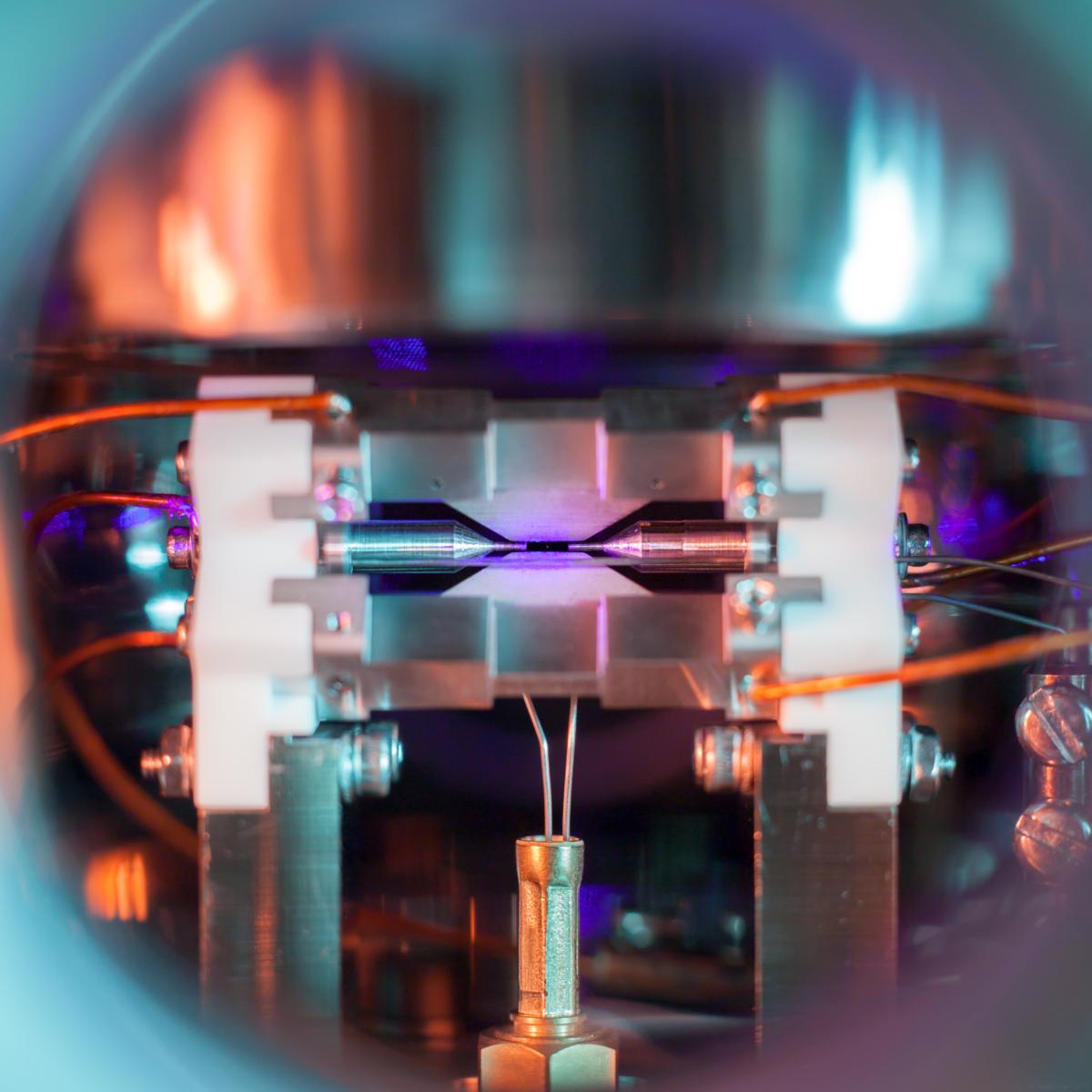 Das von David Nadlinger fotografierte Stronzium-Atom.
