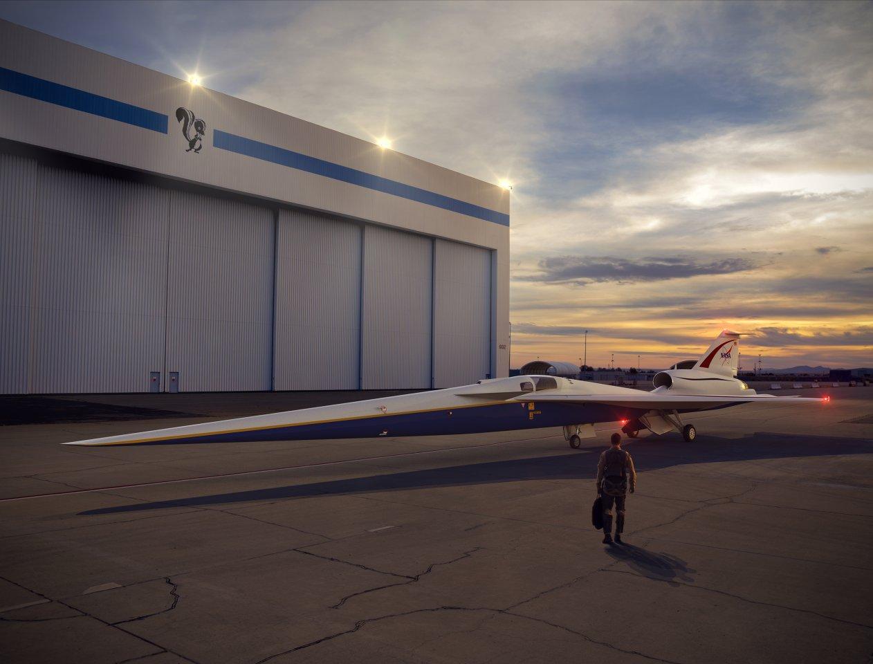 Resultat der Testreihe soll das X-59-Überschallexperimentalflugzeug der NASA werden.