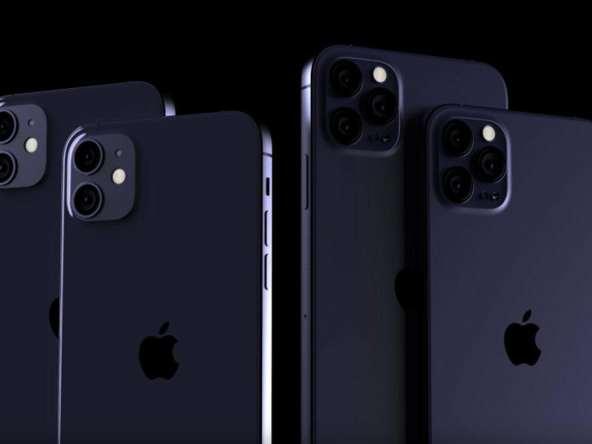 iPhone 12-Konzept in Navy Blue