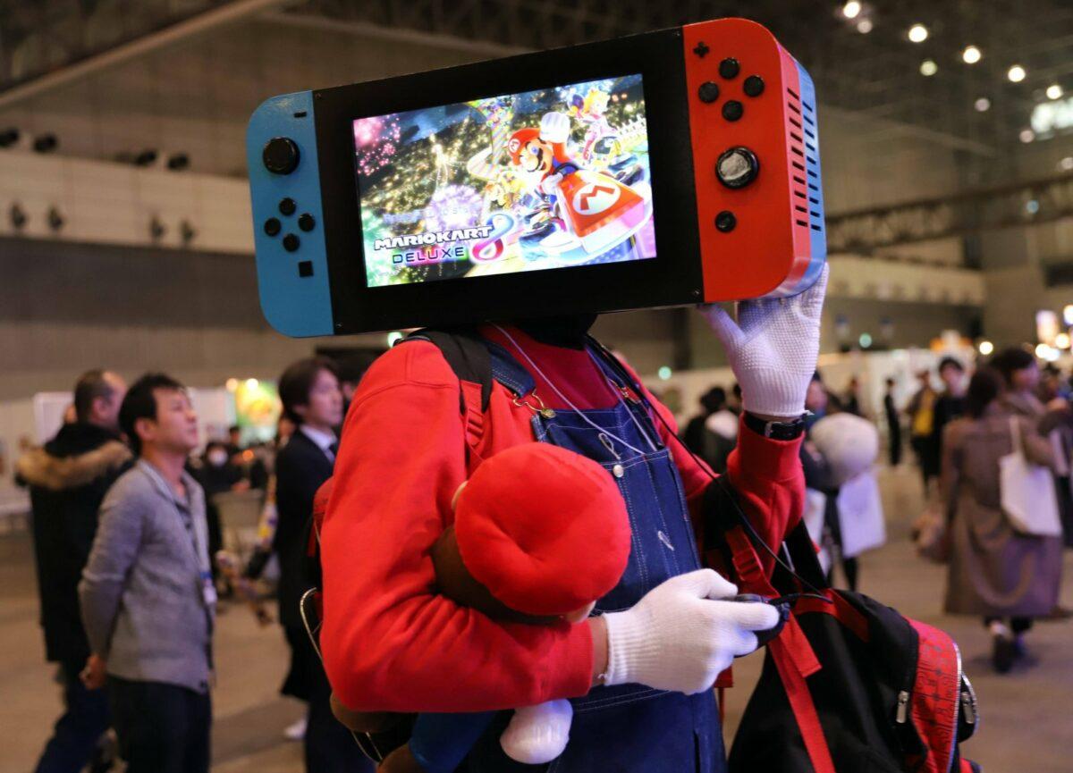 Nintendo Switch auf Kopf